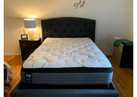 Like New Headboard with mattress