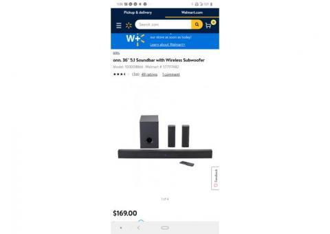 Onn 36.5 inch soundbar surround system