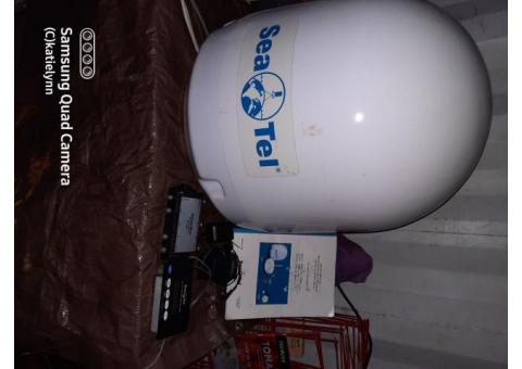 SeaTel phone and data satellite communication system